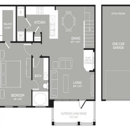 3D Floor Plan 7 | Austin TX Apartments | The Mansions at Lakeway