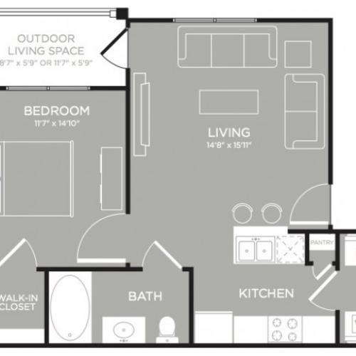 3D Floor Plan 1   Apartments Austin   The Mansions at Lakeway
