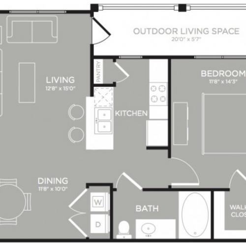 3D Floor Plan 2 | Apartment In Austin Texas | The Mansions at Lakeway