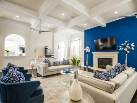 Community Study Lounge | Apartments In Pflugerville TX | The Mansions at Stone Hill