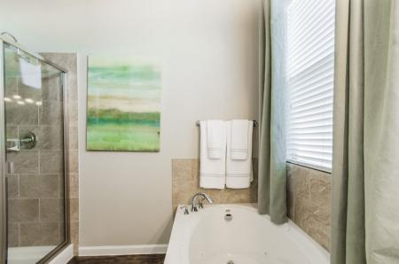 Ornate Bathroom | Pflugerville Apartments | The Mansions at Stone Hill