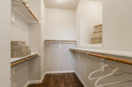 Spacious Closet | Pflugerville Apartments | The Mansions at Stone Hill