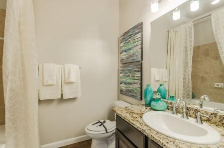 Elegant Bathroom | Pflugerville Apartments | The Mansions at Stone Hill