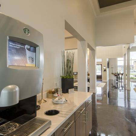 Resident Coffee Bar | Apartments In Conroe TX | The Towers Woodland