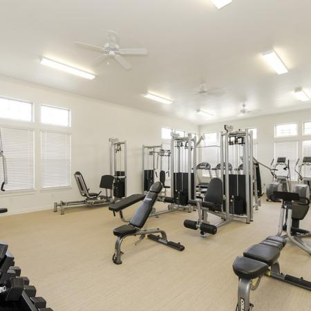 Cutting Edge Fitness Center | Apartments Magnolia TX | The Estates Woodland
