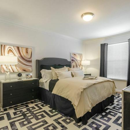 Elegant Bedroom | 2 Bedroom Apartments Austin | The Mansions at Lakeway
