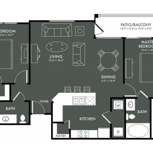 Floor Plan 6 | Apartments In Magnolia | The Grand Estates Woodland