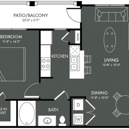 Floor Plan 3 | Apartments Near Magnolia TX | The Grand Estates Woodland