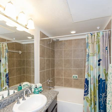 Residents in the Bathroom   Apartments In Magnolia   The Grand Estates Woodland