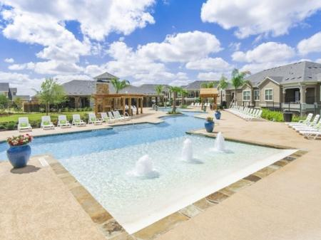 Resort Style Pool   Luxury Apartments In San Antonio   The Mansions at Briggs Ranch