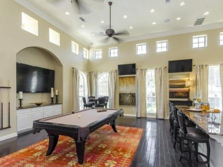 Resident Game Room   Luxury Apartments In San Antonio   The Mansions at Briggs Ranch