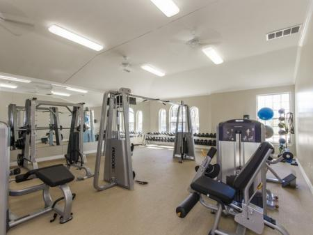 Weight Room   The Mansions at Briggs Ranch