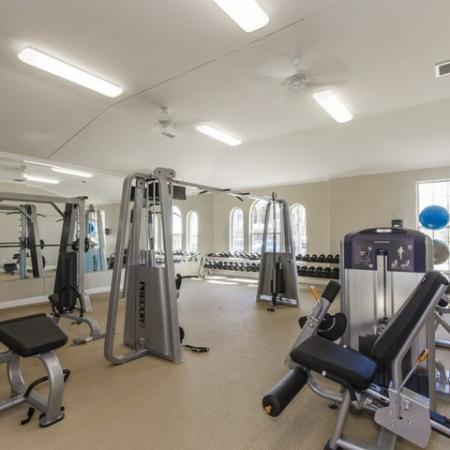 Weight Room | The Mansions at Briggs Ranch