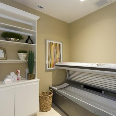 Resident Tanning Bed | Luxury Apartments In San Antonio | The Mansions at Briggs Ranch