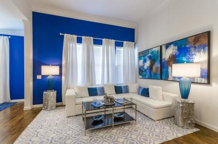 Elegant Living Room | Luxury Apartments In Little Elm TX | The Mansions 3Eighty