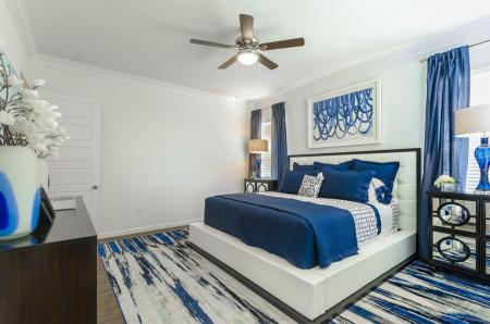 Elegant Master Bedroom | Frisco Apartments | The Mansions 3Eighty