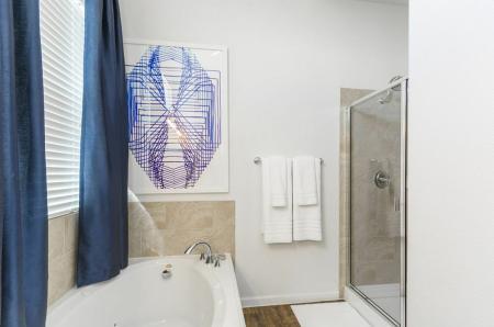 Elegant Master Bathroom | Frisco Apartments | The Mansions 3Eighty