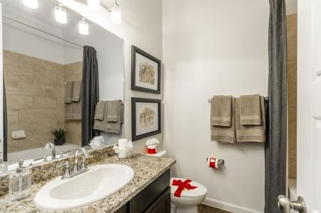 Ornate Bathroom | Apartments In Little Elm TX | The Mansions 3Eighty