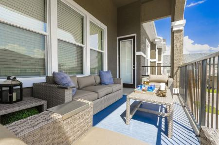 Spacious Apartment Balcony | Apartments Little Elm | The Mansions 3Eighty