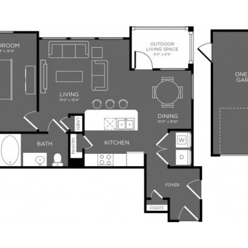 3D Floor Plan 5 | Conroe Apartments | The Mansions Woodland