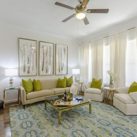 Residents Lounging in the Living Area | Apartments Wylie | The Mansions at Wylie01