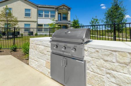 Community BBQ Grills | Apartments For Rent Pflugerville Tx | The Mansions at Stone Hill