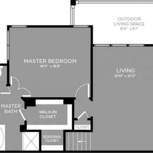 2D Floor Plan 12 | Little Elm Luxury Apartments | The Mansions 3Eighty