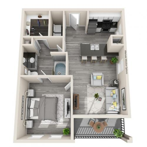 Floor Plan 1 | Luxury Apartments McKinney | The Mansions McKinney