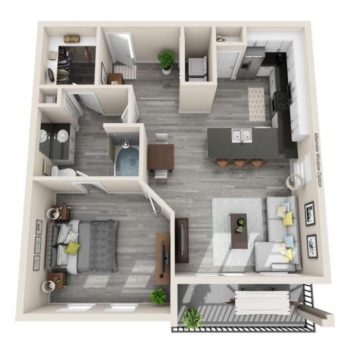 Floor Plan 13 | McKinney Apartments | The Mansions McKinney