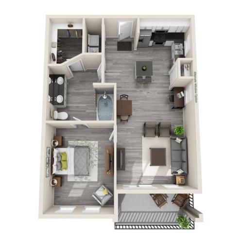 Floor Plan 16 | Apartments In McKinney TX | The Mansions McKinney