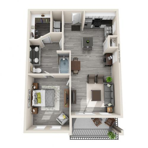 Floor Plan 16 | Apartments In McKinney TX | The Mansions McKinney