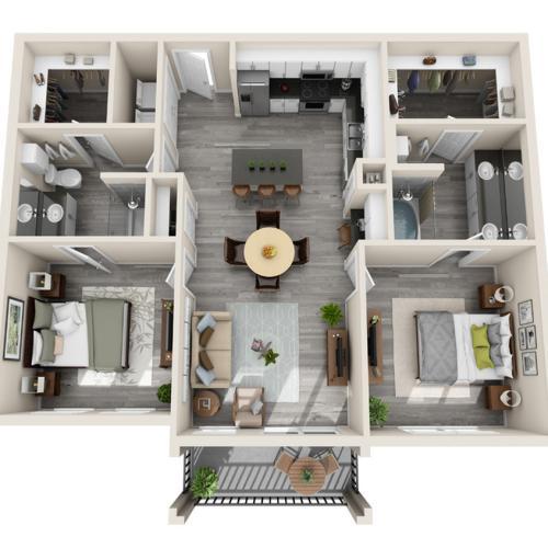 Floor Plan 22 | Luxury McKinney Apartments | The Mansions McKinney