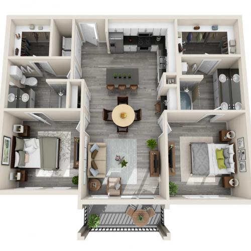 Floor Plan 22 | Luxury McKinney Apartments | The Mansions McKinney