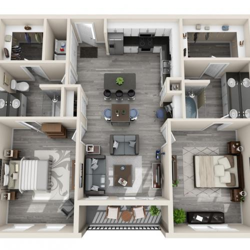 Floor Plan 26 | Apartments In McKinney TX | The Mansions McKinney