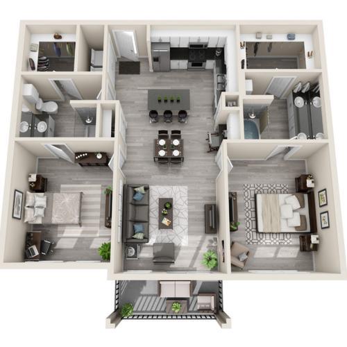 Floor Plan 30 | Apartments McKinney | The Mansions McKinney