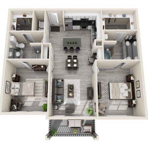 Floor Plan 30 | Apartments McKinney | The Mansions McKinney