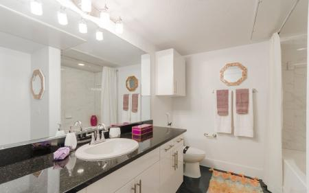 Residents in the Master Bathroom | Apartments In Clear Lake Texas | The Towers of Seabrook
