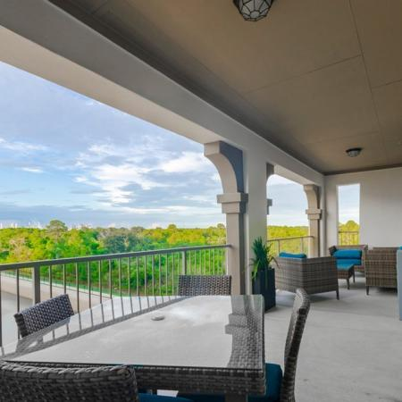 Spacious Porch Area | Apartments Seabrook TX | The Towers of Seabrook