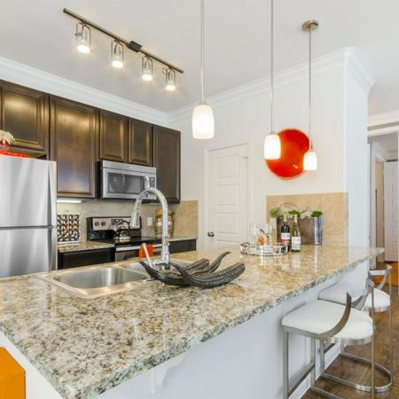 Luxurious Kitchen | Apartments In Aubrey TX | The Mansions 3Eighty