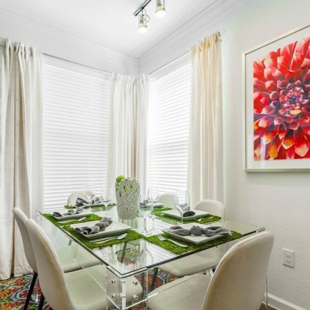 Eat in the Dining Room | Little Elm Luxury Apartments | The Mansions 3Eighty