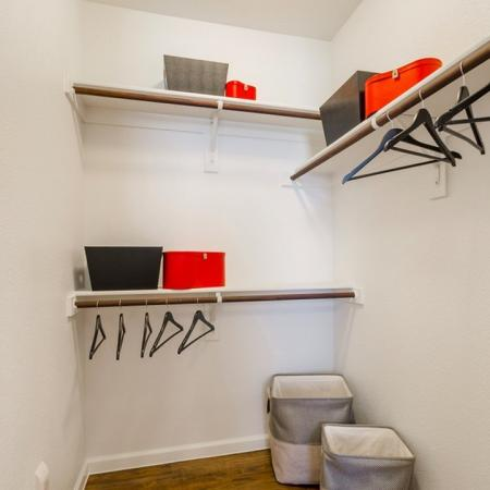Spacious Walk-in Closet | Frisco Apartments | The Mansions 3Eighty