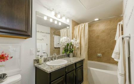 Pristine Master Bathroom | Aubrey Apartments | The Mansions 3Eighty