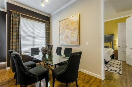 Elegant Dining Room   Apartments In Aubrey TX   The Estates 3Eighty