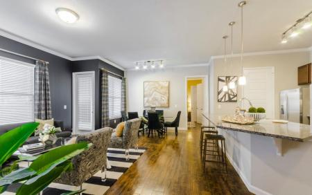 Luxurious Dining Room   Aubrey TX Apartments   The Estates 3Eighty