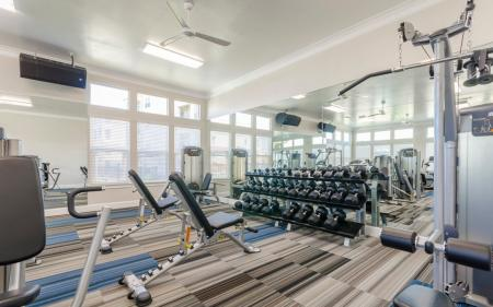 Cutting Edge Fitness Center | Apartments Homes for rent in Little Elm, TX | The Luxe 3Eighty