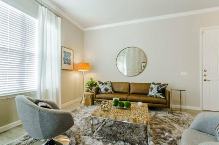 Luxurious Living Room | Aubrey Apartments | Luxe 3Eighty