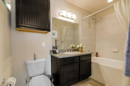 Spacious Bathroom | Luxury Apartments In Little Elm TX | Luxe 3Eighty