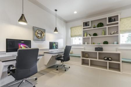 Resident Computer Lounge | Apartments For Rent In Austin TX | The Mansions at Travesia