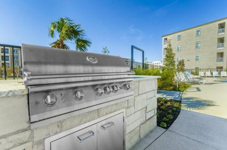 Community BBQ Grills | Luxury Apartments In Little Elm TX | Luxe 3Eighty