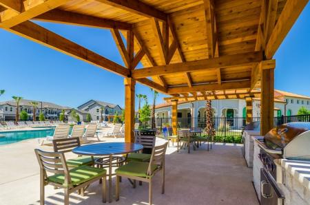 Community BBQ Grills | Apartments Austin TX | The Mansions at Travesia